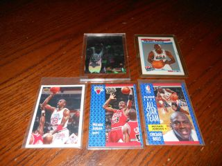 Michael Jordan MJ Chicago Bulls Basketball Trading Cards 1991 Hologram