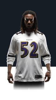 Ravens Ray Lewis Mens Football Away Game Jersey 479378_102_A_BODY