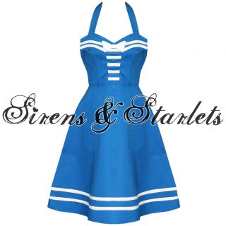 dead threads blue nautical sailor rockabilly dress more options dress