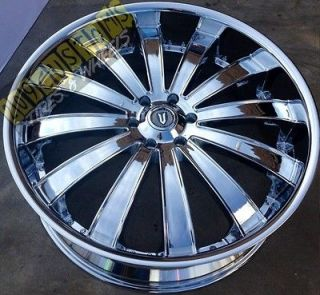 26 INCH VERSANTE RIMS WHEELS TIRES VW225 6X139.7 CHROME SIERRA 06 07