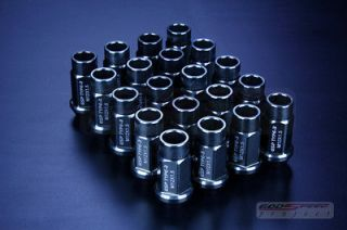 GODSPEED t 3 wheel rim racing lug nuts 50mm 20 piece M12 X 1.5 OPEN
