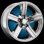 22 CHROME IROC WHEELS TIRES 5X127 GMC CHEVY TRUCK IMPALA CAPRICE 265