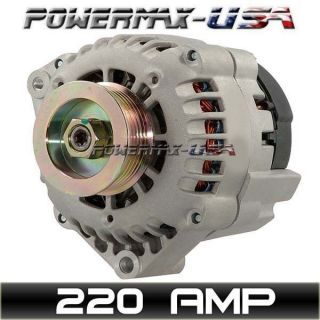 HIGH OUTPUT 220AMP ALTERNATOR S10 BLAZER JIMMY SONOMA BRAVADA 4.3L V6