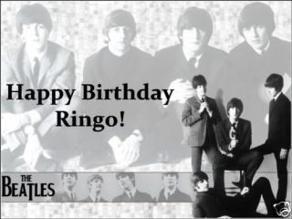 a4 personalised the beatles birthday icing cake topper time left
