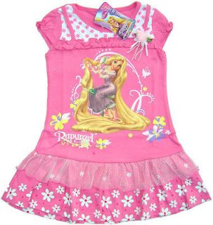 Disney TANGLED Rapunzel Pretty Party Cotton DRESS Girls Kids Clothes