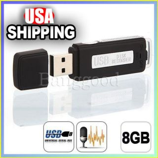 8GB USB Digital Audio SPY Voice Recorder Pen Disk Flash Drive 150 hrs