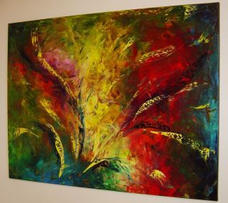 original Abstract Oil Knife Painting Eugenia Abramson►