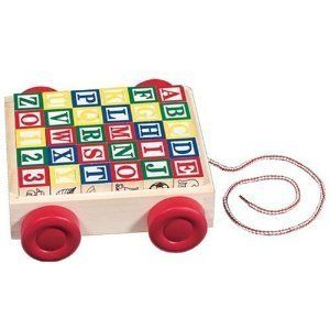 ABC Blocks Cart Melissa and Doug Baby Child Toys Alphabet New