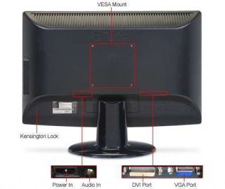 New Acer H203H 20 Widescreen LCD Monitor Screen for PC Has Integrated