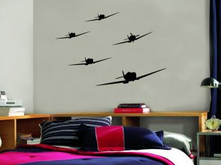 Military Fighter Airplane Vinyl Wall Decal Stickers