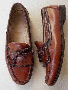 ALLEN EDMONDS WOODSTOCK MENS BROWN LEATHER LOAFERS SIZE 10 5 EEE