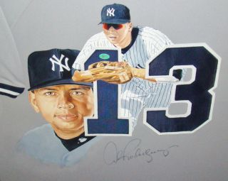 Alex Rodriguez SIGNED Custom Framed 1/1 Painted Jersey AROD CERTIFIED