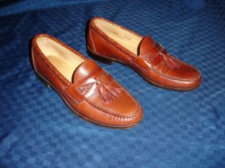 ALLEN EDMONDS MAXFIELD BROWN LEATHER LOAFER SHOES MENS 9 5 B