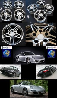 Brand new set of four Rad Alloy 997 turbo style wheels / rims for