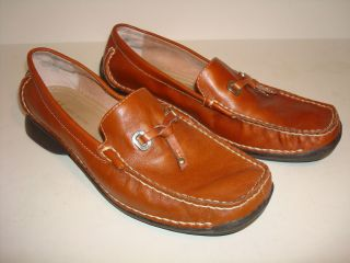 Anne Klein Slip On Brown Leather Loafers w Tassel Mamyriad Womens