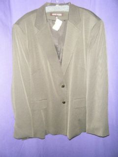 Anne Klein New York Brown Dotted Blazer Size 22W