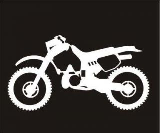 Decals and Stickers White Vinyl Decal motox Dirt Bike Sticker