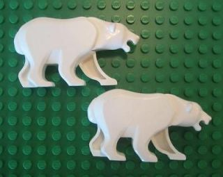 LEGO POLAR BEARS MINIFIGS lot arctic animals white city town animals