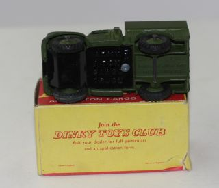 description dinky toys military 641 1 ton army truck in very near mint