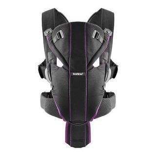 BabyBjorn Baby Carrier Miracle Black Purple