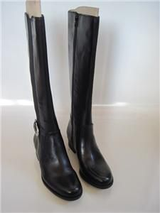 Naturalizer Arness Black Leather Zip Knee High Riding Boots Womens Sz