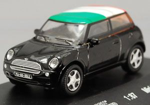 BMW Mini Cooper Italy Flag Top 1 87 Diecast HO Scale