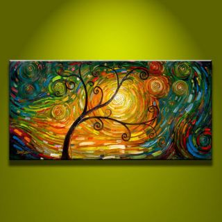 Modern Abstract Art Oil Painting on canvas  art tree(noframe)
