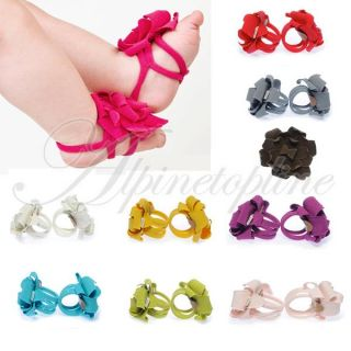 Lovely Baby Infant Toddler Boy Girls Pram Flower Belt Feet Shoes Posh