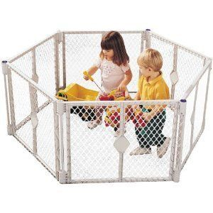 North States Play Yard Baby Gate Pen Animal Toddler Used Clean