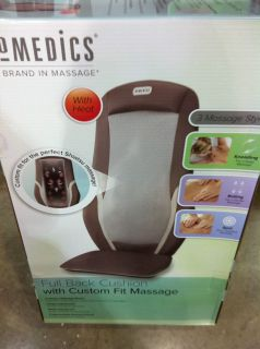 New Homedics Full Back Cushion Fit Massage with Heat