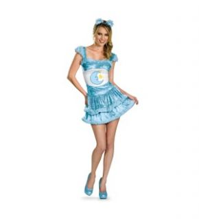 when she wears the Care Bears Sexy Bedtime Bear Adult Costume Dress