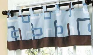 BLUE CHOCOLATE BROWN CHEAP DESIGNER BABY BOY CRIB BEDDING SET