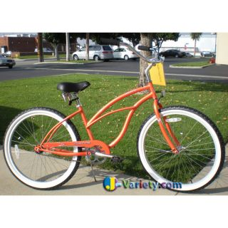 Beach Cruiser Bicycle bikes, Firmstrong URBAN 26 Womens ORANGE with