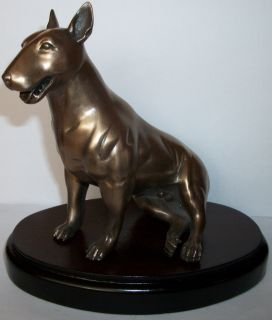 Beauchamp Bronze ENGLISH BULL TERRIER DOG Bullie Cold Cast Bronze
