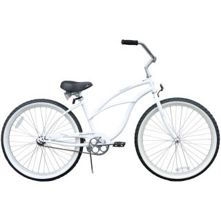Beach Cruiser Bicycle bikes, Firmstrong URBAN 26 Womens WHITE with