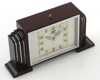 Stunning Art Deco Bayard Alarm Clock Saturn Rings in Original Box
