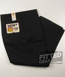 Ben Davis Classic Original Black BK Twill Working Flat Front Pants