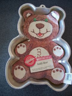 TEDDY BEAR WILTON CAKE PAN 2105 9402 RETIRED 1986 with INSERT