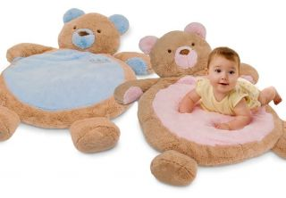 Teddy Bear Baby Infant Plush Stuffed Animal Sleep Nap Play Mat Playmat