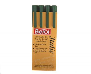 New Berol Italic Calligraphy Pen 4 Pen Point Sizes Combined Shipping