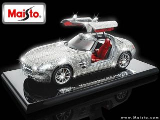 producing a 118 Mercedes Benz SLS AMG MADE WITH SWAROVSKI ELEMENTS
