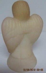 Vintage Fenton Burmese Angel Figurine Hand Painted & Signed A. Sutton