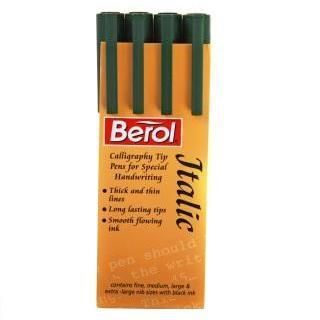 PK Berol Italic Calligraphy Pen Set Diff Sizes