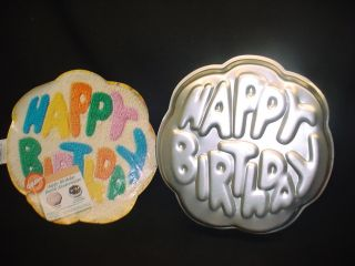 Wilton Big Happy Birthday Cake Pan Mold Tin Insert Easy