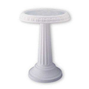 Scene BB2 Grecian Bird Bath White New Birdbaths Birds Wildlife Birding