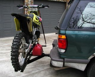 Dirt Bike Motorcycle Carrier Trailer Hauler Hitch Rack
