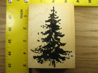 Big Pine Tree by Art Impressions Nature Silhouette Rubber Stamps 1441