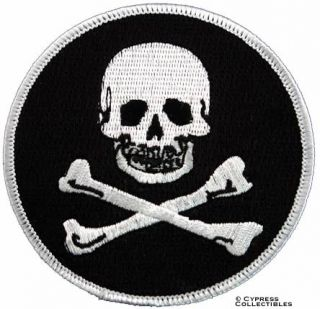 Iron on Pirate Patch Jolly Roger Skull and Crossbones
