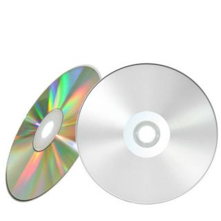 100 52x Silver Inkjet Hub Printable Blank CD R CDR Recordable Disc