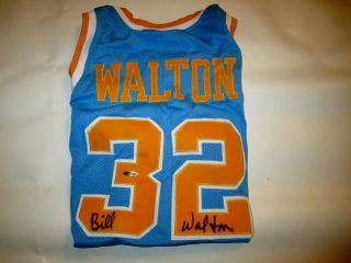 BILL WALTON SIGNED AUTOGRAPHED JERSEY NCAA UCLA + BOSTON CELTICS UPPER